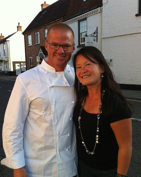 Ev TheRationalOptomist meeting Heston Blumenthal of the Fat Duck