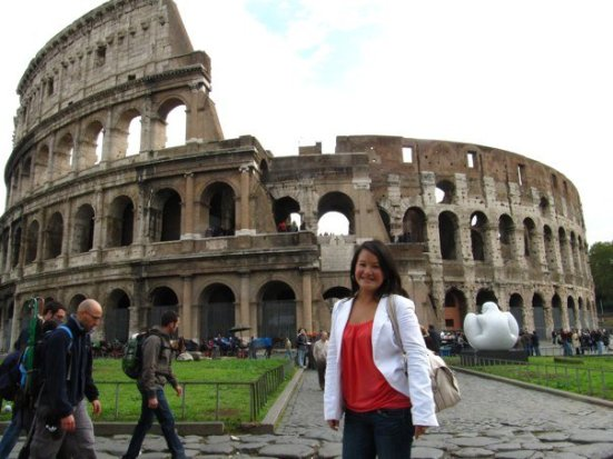 ev at the colosseum rome italy