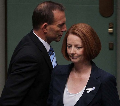 Tony Abbott & Julia Gillard