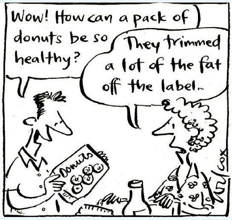food labelling cartoon