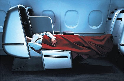 Business class lie flat bed