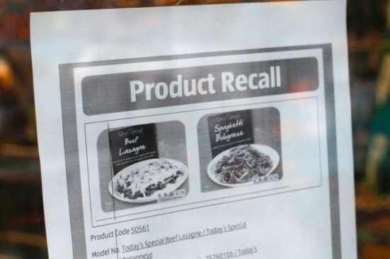 horse meat scandal product recall