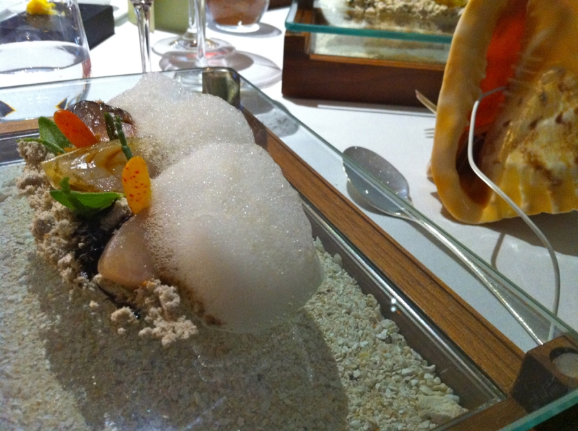 Sounds of the Sea dish at the Fat Duck