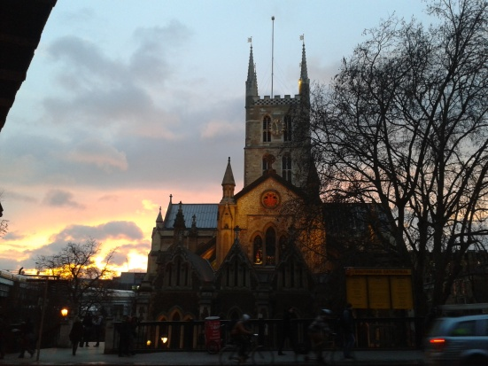 Southwark Cathedral sunset