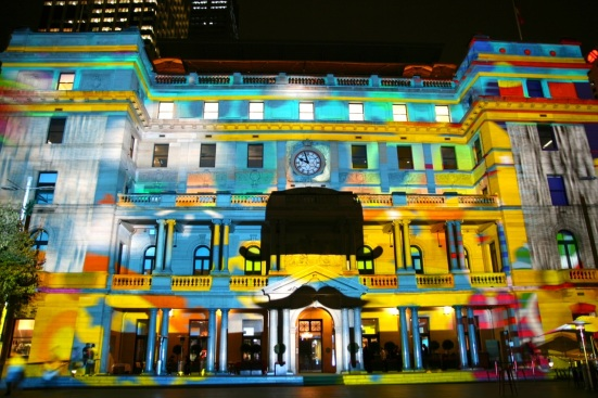 vivid sydney customs house art